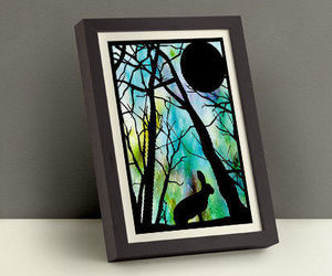 etsy, nursery animal art, and paper cut aceo image