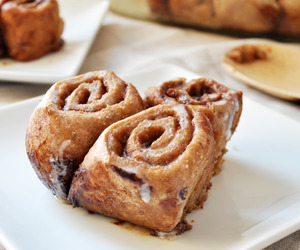 food, cinnamon rolls, and delicious image