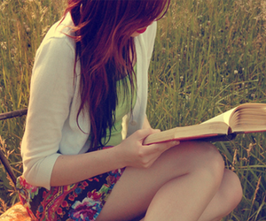 girl and reading books iz cool image