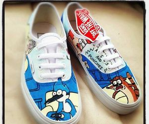 shoes, rigby, and mordecai image