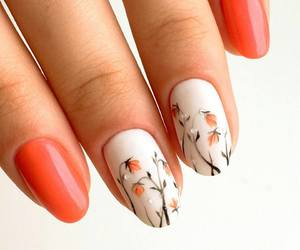 nails, fashion, and flowers image