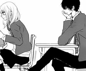 manga, black and white, and anime image