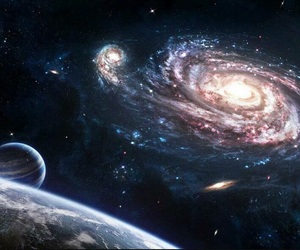 galaxy, space, and stars image