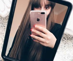 brownhair, girl, and longhair image