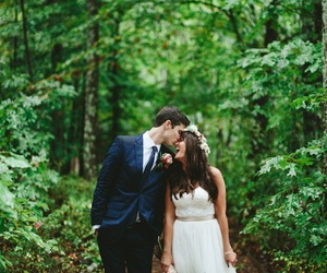 forest, wedding, and love image