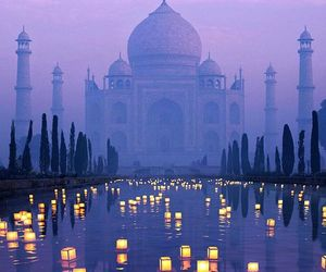 india, travel, and taj mahal image