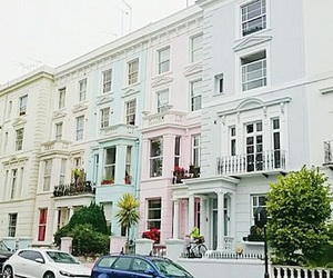 colourful, Houses, and london image