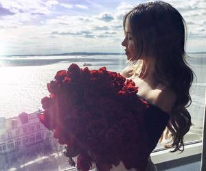 beauty, girl, and rose image