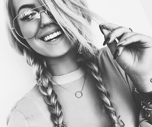 beauty, braids, and glasses image