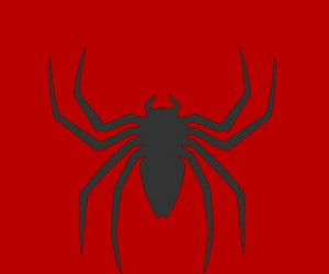 red, spiderman, and wallpaper image