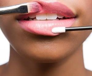 lips, pink, and make up image
