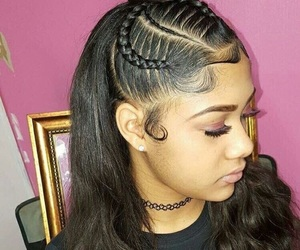 braids, curls, and hair image