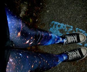 converse, galaxy, and legs image