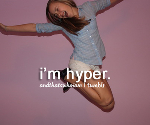 hyper, girl, and quotes image