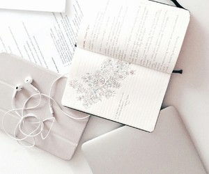 white, aesthetic, and book image