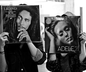 Adele, bob marley, and music image