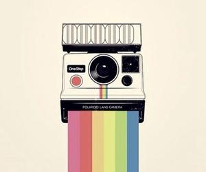 background, camera, and polaroid image