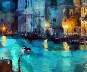 art, blue, and italy image