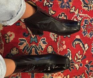 60s, black, and boots image