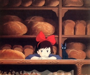 anime, kiki's delivery service, and studio ghibli image