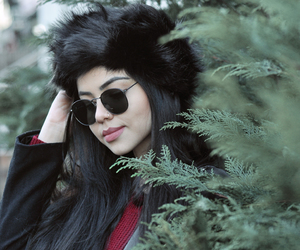 fashion, winter, and leather image