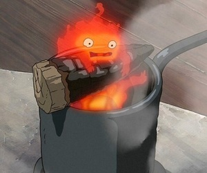 anime and fire image