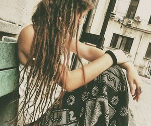 dreads, girl, and dreadlocks image