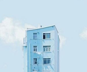 aesthetic, building, and light blue image