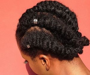 hair accessories, flat twist, and natural hair image