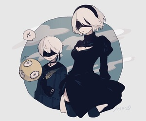 anime, video game, and 9s image