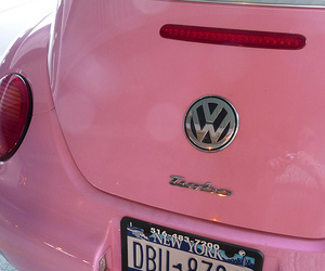 pink, car, and beetle image