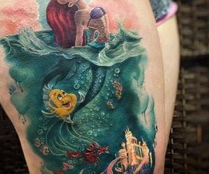 tattoo, ariel, and disney image