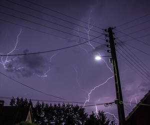 sky, purple, and lightning image