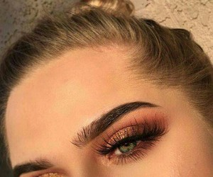 brown, eyebrow, and glitter image