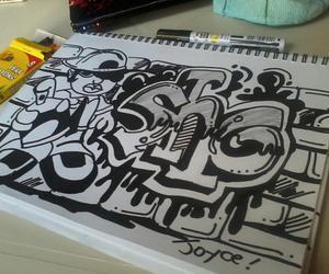 drawing, text, and graffiti image