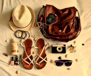 bag, summer, and hat image