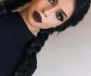 makeup, hair, and braid image
