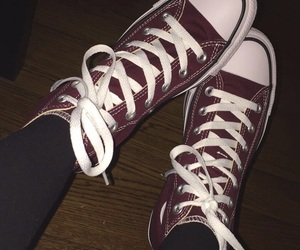 burgundy, converse, and dark image
