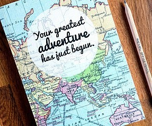 adventure, books, and notepad image