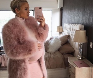 fashion, pink, and pregnant image