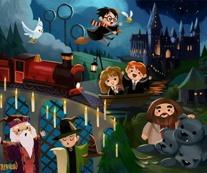 harry potter, hogwarts, and hermione image