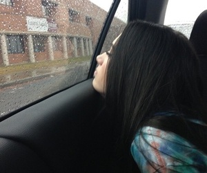 girl, grunge, and rain image