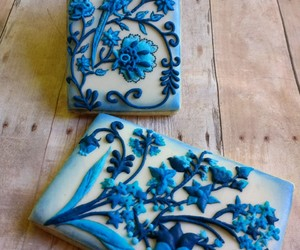art, Cookies, and blue image