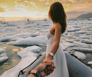 girl, snow, and amazing image
