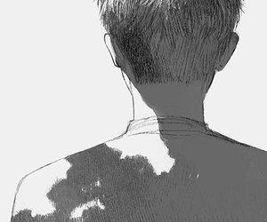 back, boy, and manga image