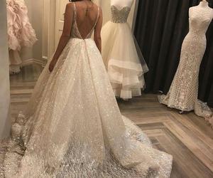 dress, wedding, and makeup image