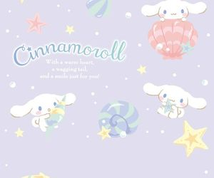 cinnamoroll, sanrio, and wallpaper image