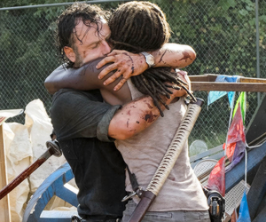hugging, the walking dead, and twd image