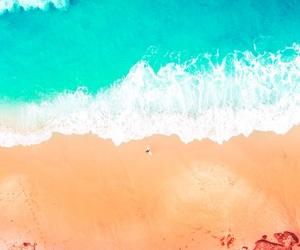 beach, ocean, and waves image