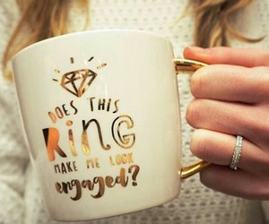 cup, diamond, and engaged image